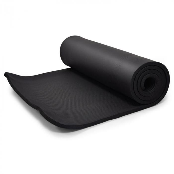 Yogamat Klarfit 190x60cm 15mm gymnastiekmat zwart