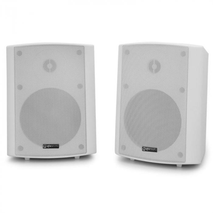 Par de altavoces de pared QTX BC5A - color blanco, 30W RMS