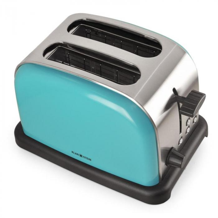 BT-318-T Stainless Steel 2-Slice Toaster - Turquois