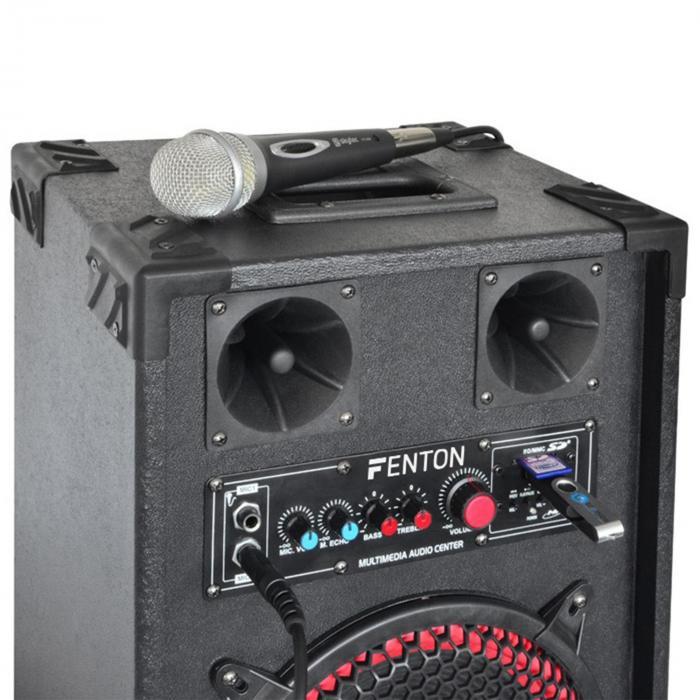 "Karaoke System ""STAR-Mitte"" PA Box Set 400 W | 2-Channel VHF Wireless Microphone Set"