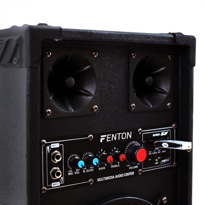 "Impianto Karaoke ""STAR-Köpenick"" Casse PA 800 W| Set 2 Canali VHF Radio Microfono"