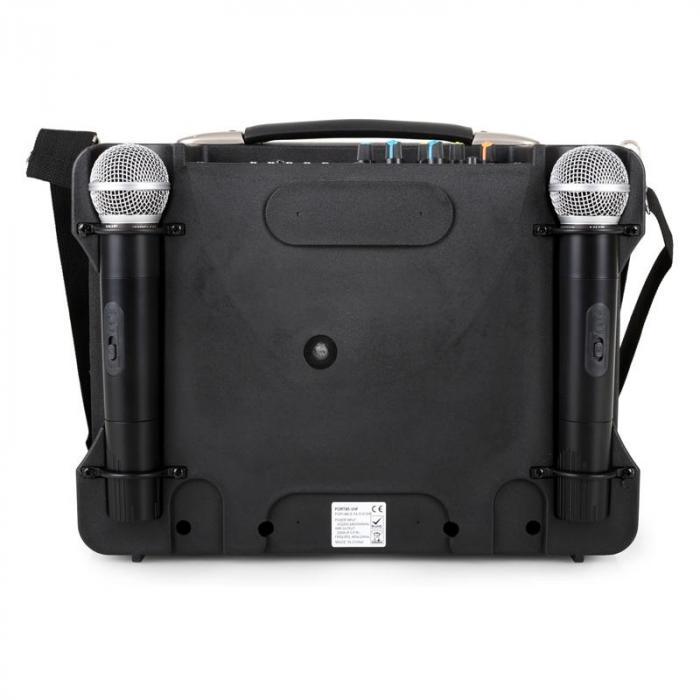 Port85VHF-BT sistema audio portatile USB/SD 2x Mic Bluetooth