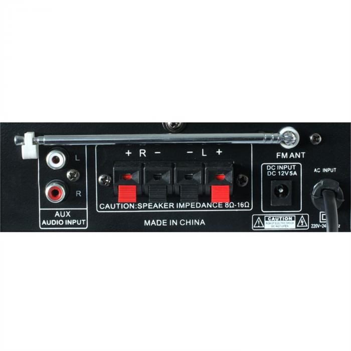 AV-360 HiFi-Stereo-vahvistin USB SD MP3 AUX FM