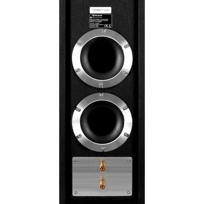 Linie-600-BK Coppia di diffusori a torre passivi 140W RMS neri