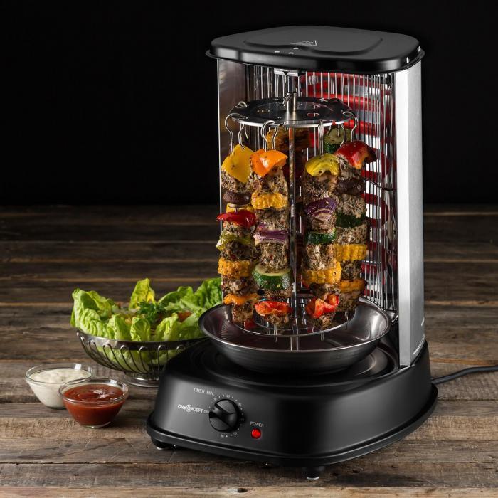 Kebab master vertikalgrill 1800W svart