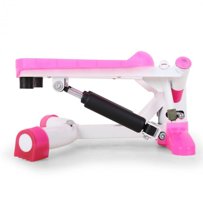 Powersteps Twist Stepper con bande rosa/bianco