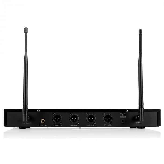 UHF 550 Quartet1 UHF Wireless Microphone Set 4-Channel