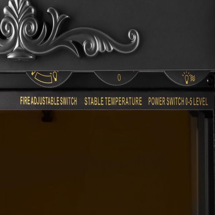 Grenoble Sähkötakka 1850 W kvartsi lämpöpuhallin musta