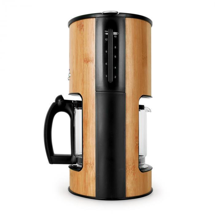 Bamboo Garden Coffee Maker 1080W 1.25L Timer