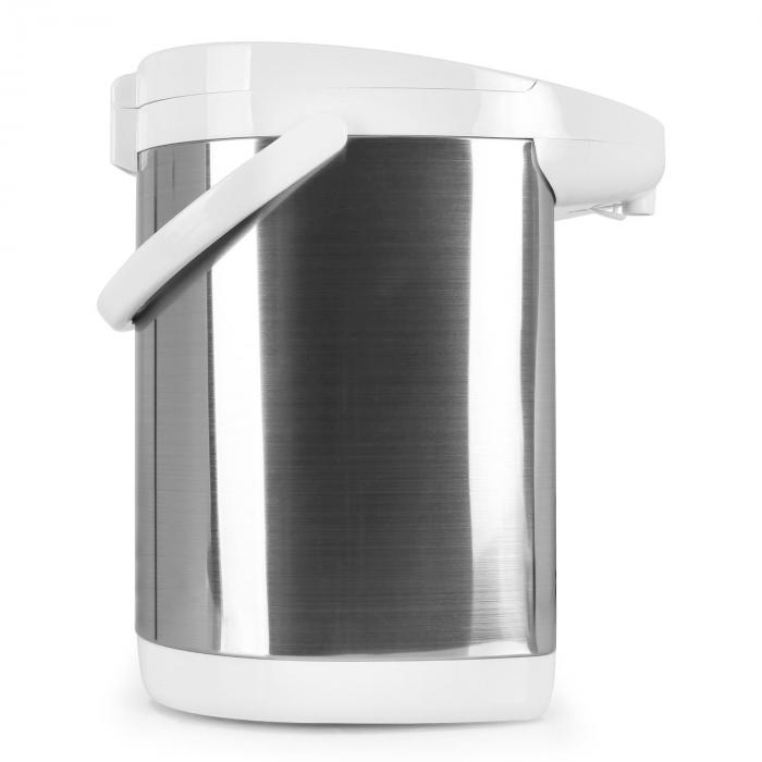5L Water Thermo Pot with Pump Action - White/Silver