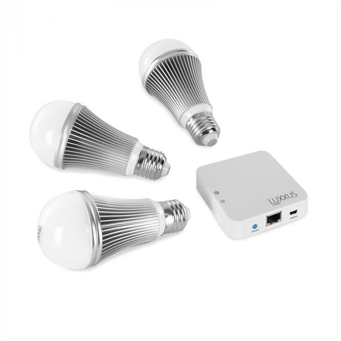 Luxxus NCL103 set di lampadine LED WiFiRGB