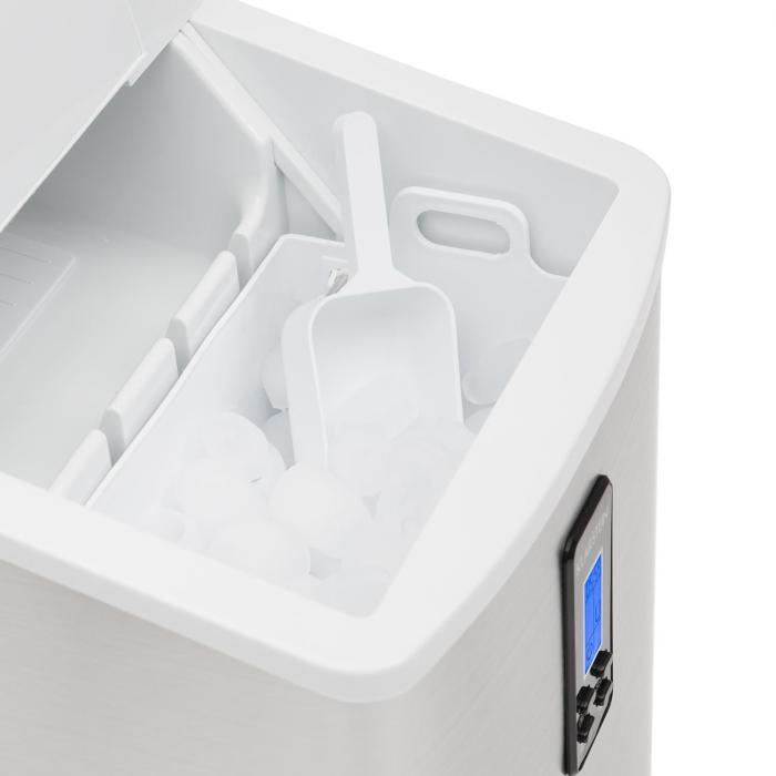 Mr. Silver-Frost Jääpalakone 150 W teräs-valkoinen