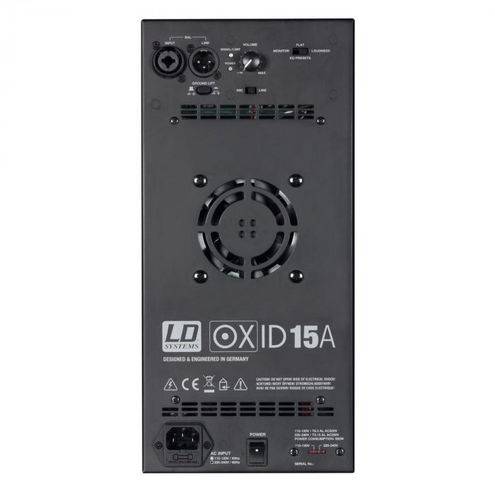"""OXID 15 A Cassa attiva PA 15"""" 500W"""