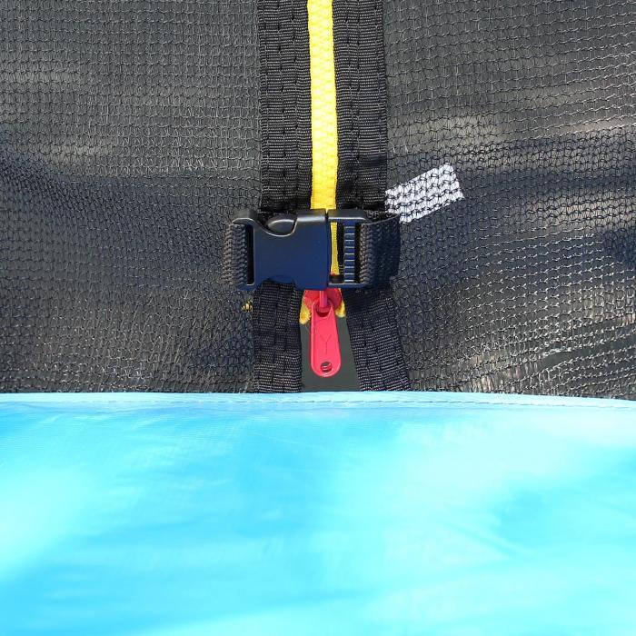 Rocketboy XXL Trampolin 305cm Sicherheitsnetz Aluleiter Cover blau