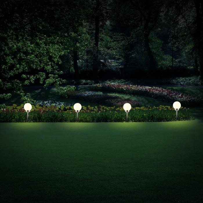 3 x Lampa słoneczna LED oneConcept ogrodowa ciepła biel Ø 14cm