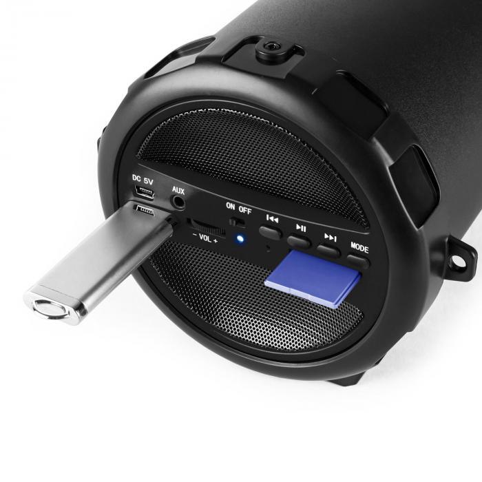 Dr. Beat 2.1 Bluetooth Speaker USB SD AUX FM Battery Black