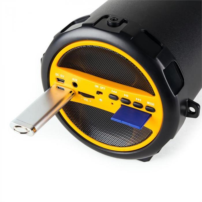 Dr. Beat 2.1 głośnik Bluetooth USB SD AUX UKF bateria żółty