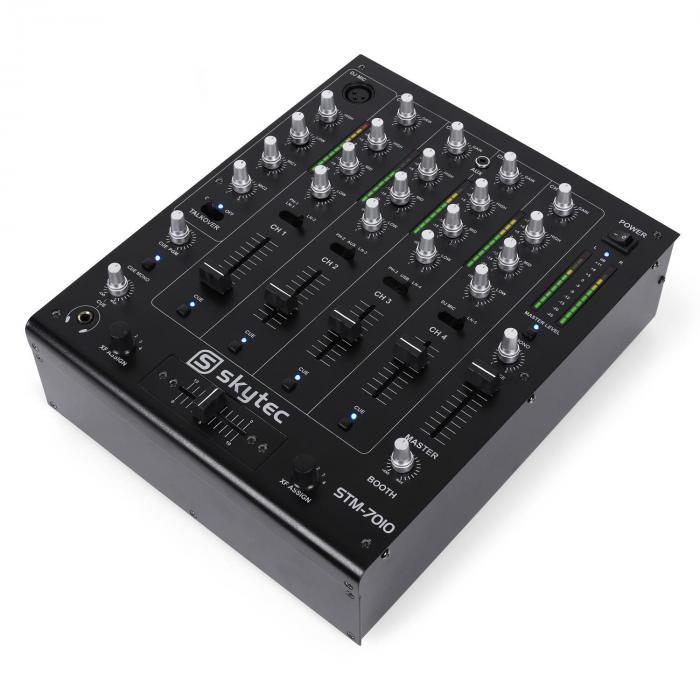 STM-7010 4-kanavainen DJ-mikseri USB MP3 EQ