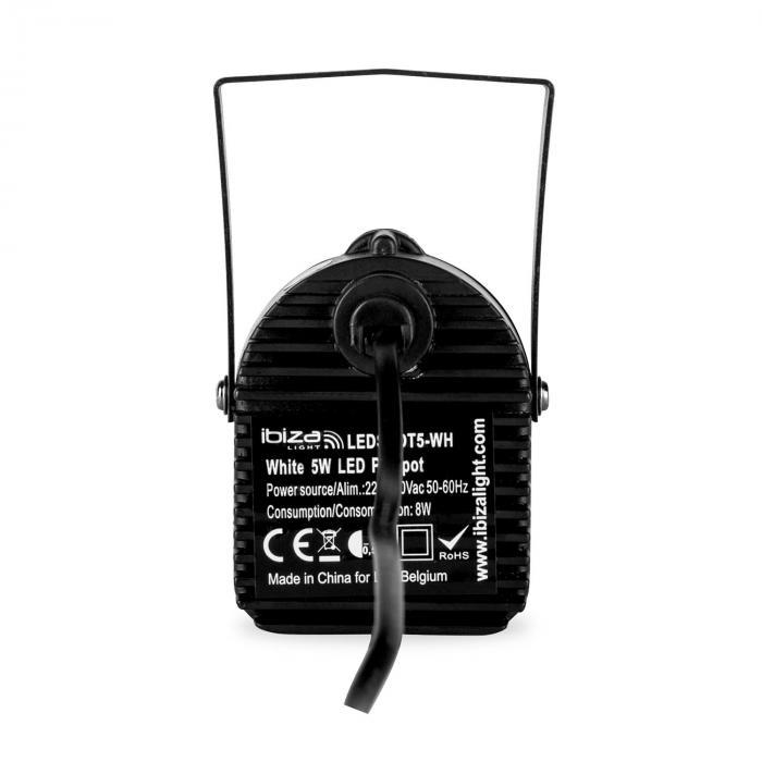 LEDSPOT5-WH LED-Spot-varjostin 5W CREE LED