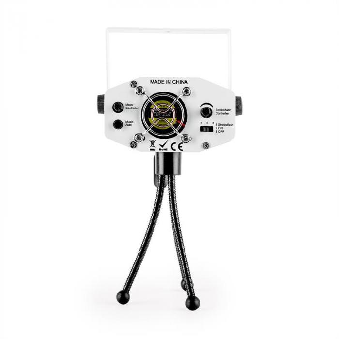 Firefly showlaser-valoefekti minilaser multipoint 130 mW valkoinen jalusta