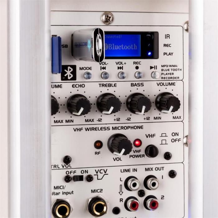 Port8VHF-BT Przenośna kolumna nagłośnieniowa Bluetooth