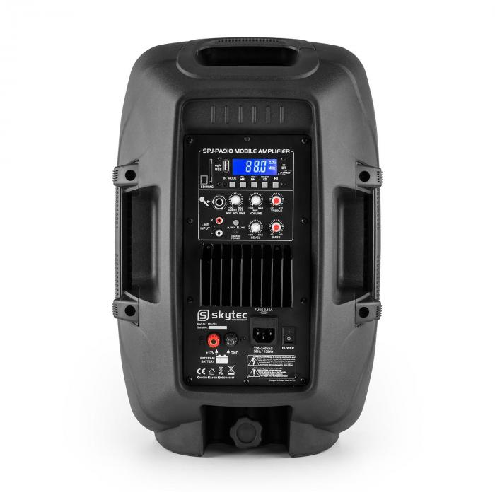 SPJ-PA910 aktiivi-PA-kaiutin akku bluetooth USB SD MP3 VHF 400w