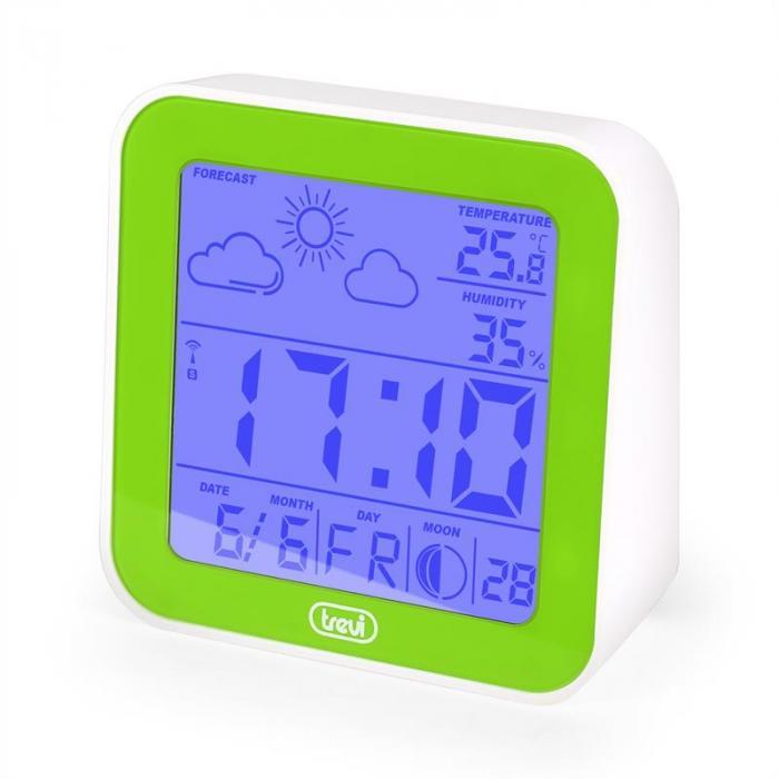 ME-3105 Wecker Wetterstation Thermometer Hygrometer Mondphasen grün