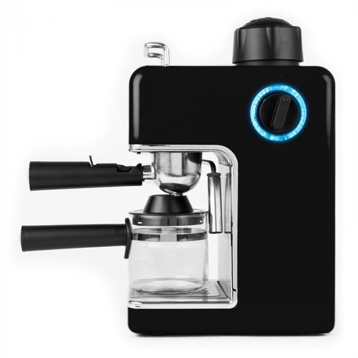 Sagrada Nera Espressomaschine Edelstahl 800W 3,5 Bar 4 Tassen