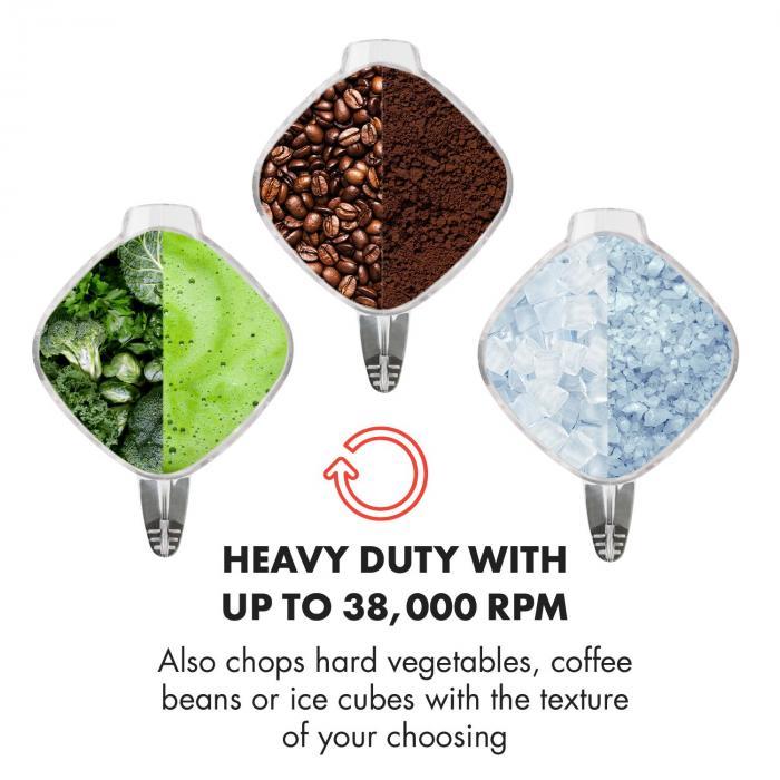 Herakles 8G frullatore professionale frullatore da tavolo 1800 W nero