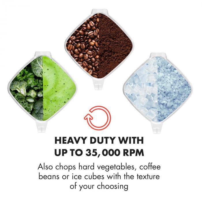 Herakles-4G-E mikseri 1500W 2 litraa punainen Green Smoothie BPA-free