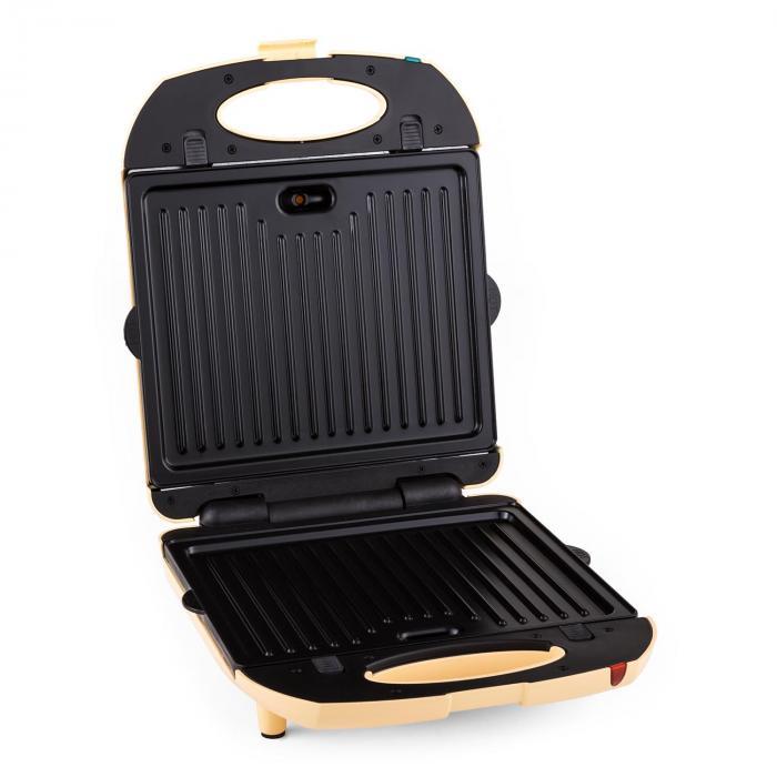 Trinity 3 i1 Sandwich Maker XXL 1300 W gräddfärgad