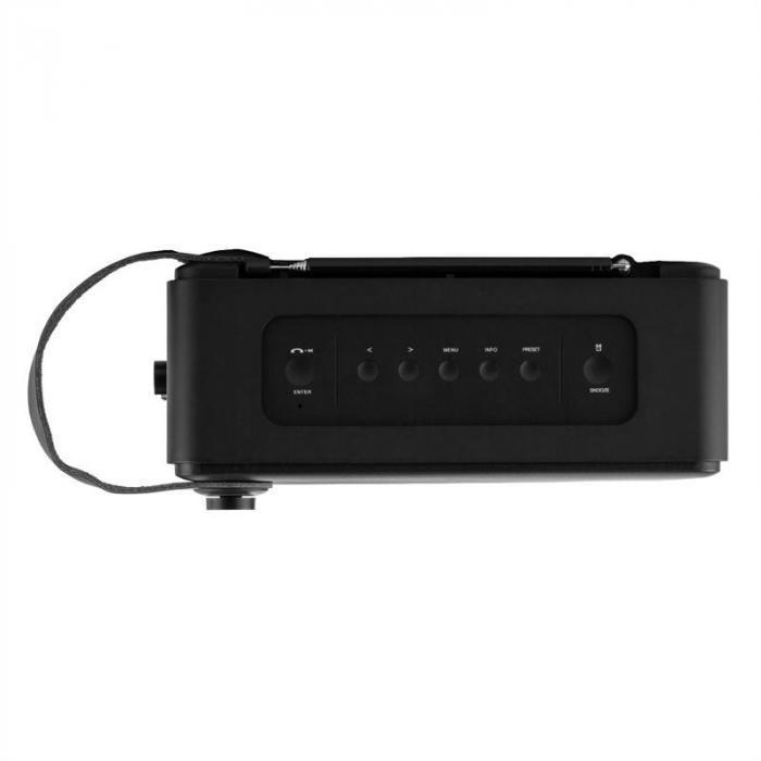 Stepford DAB / DAB + Radio digitale Bluetooth AUX Sveglia nero