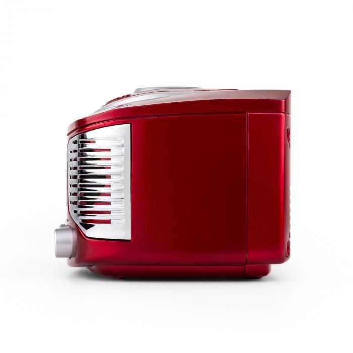 RCD320 CD-soitin FM AUX retro punainen