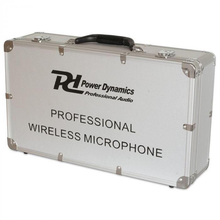 Power Dynamics PD722H 2 kanavan UHF-radiomikrofonijärjestelmä 2 x langaton käsimikrofoni