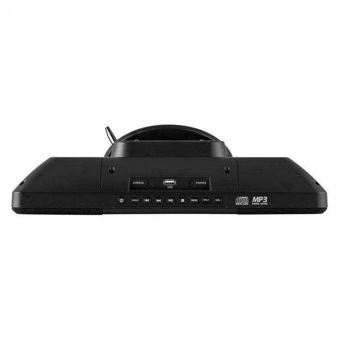 V-13 Impianto Stereo CD MP3 Radio Sveglia Nero