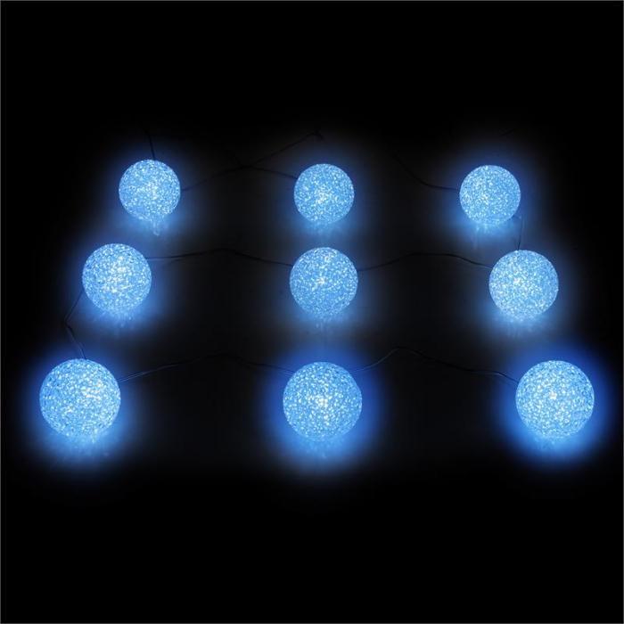 garlando lichterkette solarlampe gartenleuchte 9 kugeln. Black Bedroom Furniture Sets. Home Design Ideas
