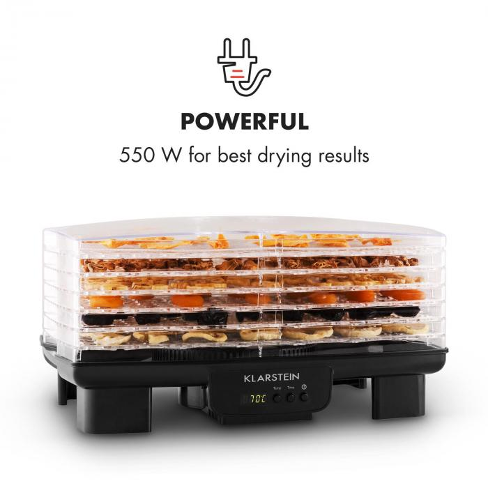 Bananarama Fruit Dryer Black 550W Dehydrator 6 Levels