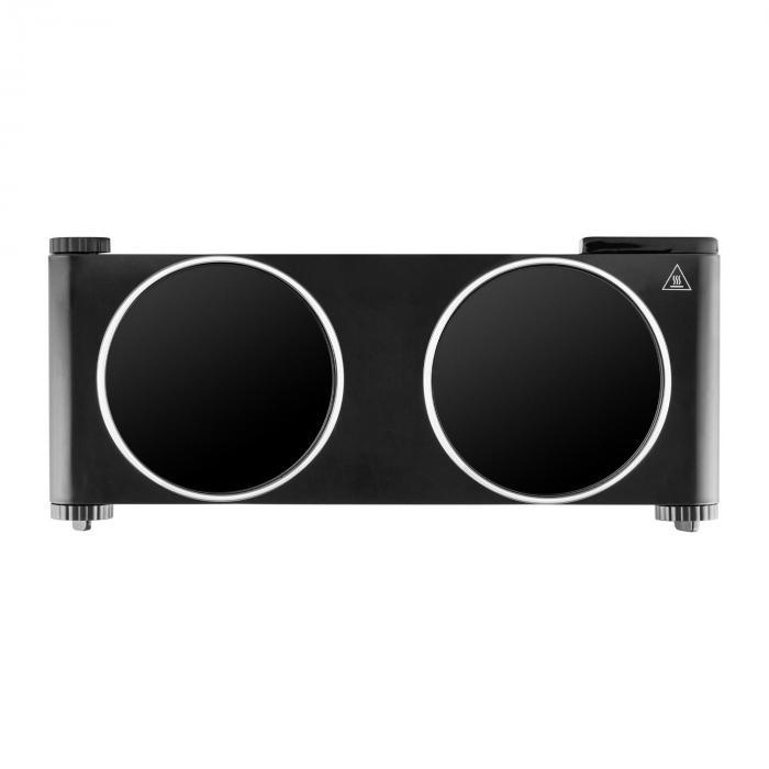 Captain Cook² Doppel-Kochplatte Infrarot 2400W Edelstahl schwarz