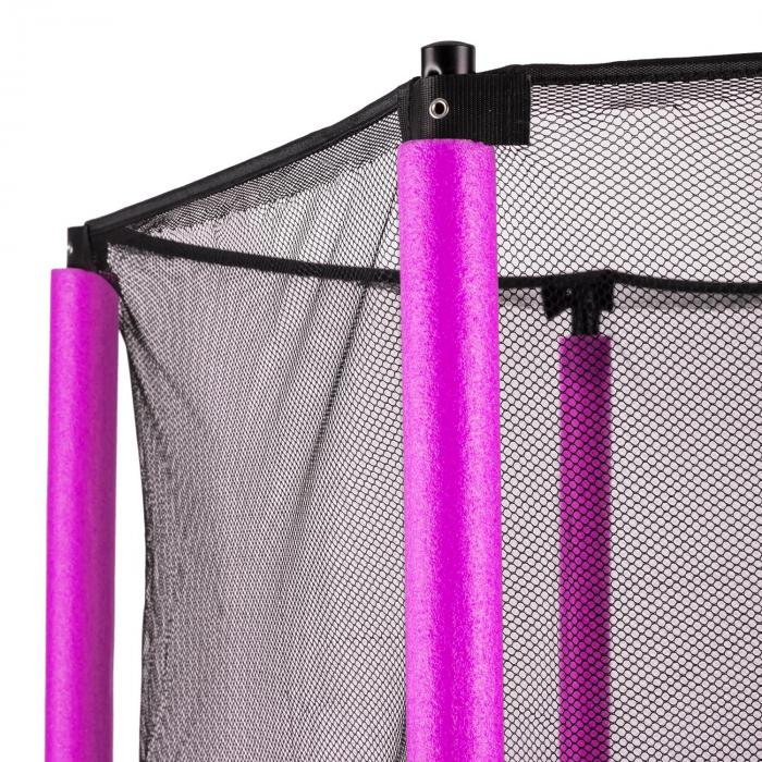 Rocketkid Trampoline 140cm/4.5ft Safety Net Bungee Suspension - Pink