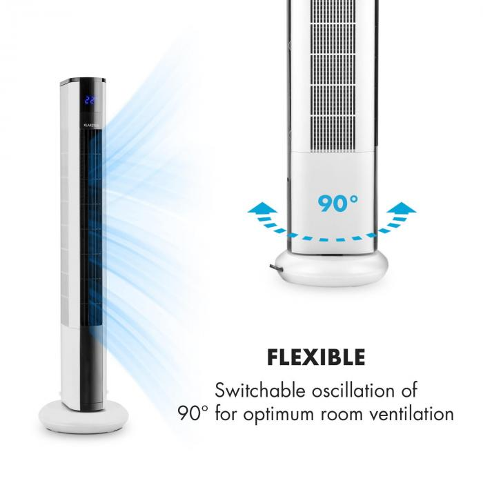 Skyscraper 3G Ventilatore A Colonna Pannello Touch Bianco