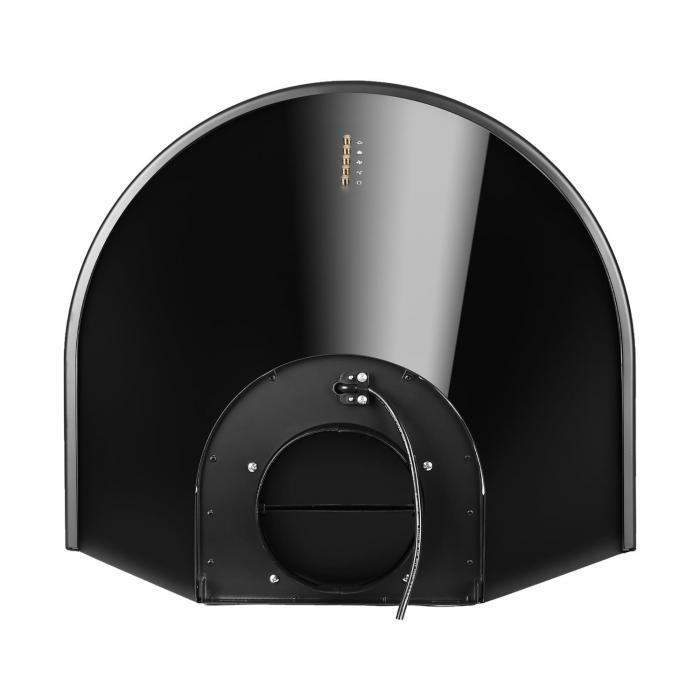 Noir Prima campana extractora campana cocina montaje pared 60cm negro