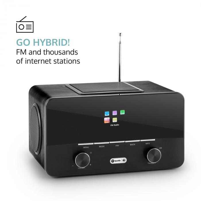 Connect 150 BK 2.1 radio internet receptor radio internet USB dab+ negro