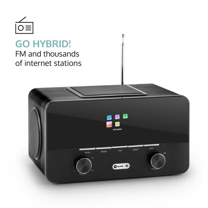 Connect 150 BK 2.1-internetradio mediasoitin WLAN LAN USB DAB+ FM