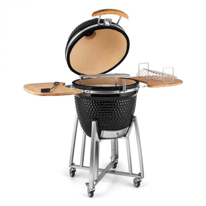 kingsize kamado grill keramikgrill 21 smoker slowcooking edelstahl online kaufen elektronik. Black Bedroom Furniture Sets. Home Design Ideas
