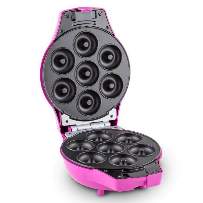 Trinity Mini Cake-Pop-Maker Våffeljärn Donut-Maker 1000 W rosa