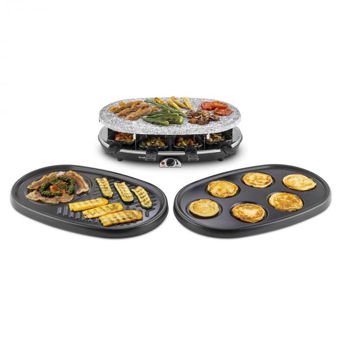 All-U-Can-Grill Raclette 4-in-1 Piastra in Pietra 8 Persone