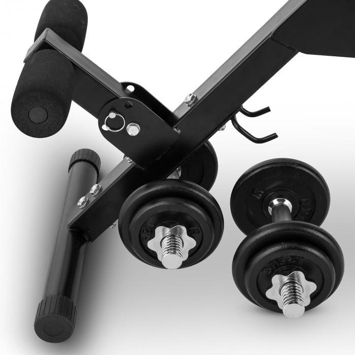 Varient Sit-Up-Bank Curlbank verstellbar 20kg Hantelset