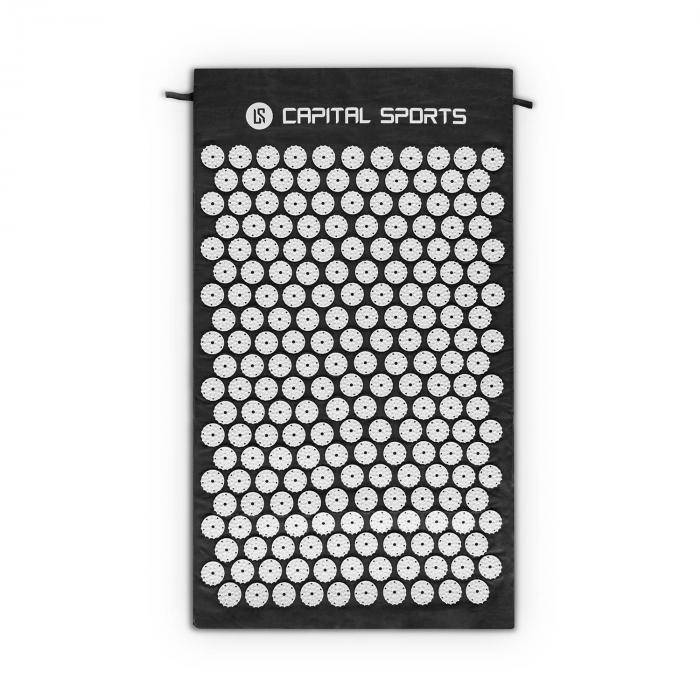 Eraser Yantramatte Massagematte Akupressur 70x40cm Schwarz