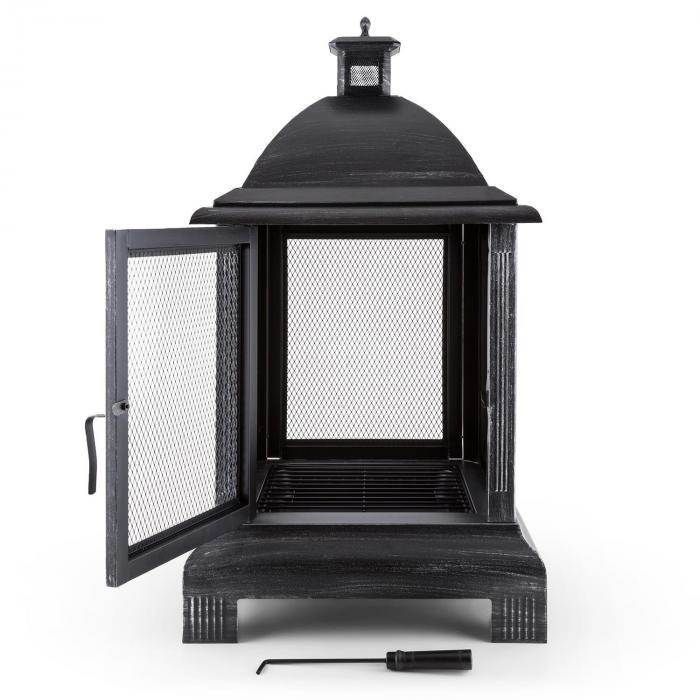 Loreo Lareira lanterna de jardim de aço polido