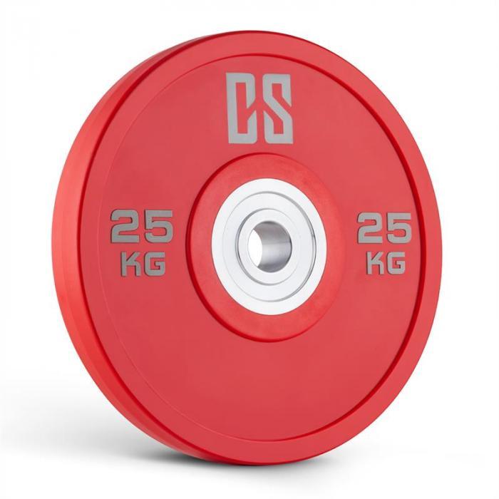 Performan uretaanilevyt painolevyt 5 paria 25 kg punainen